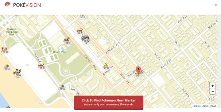 Imagen - PokéVision, la nueva web de mapas que informa en tiempo real de pokémons a tu alrededor