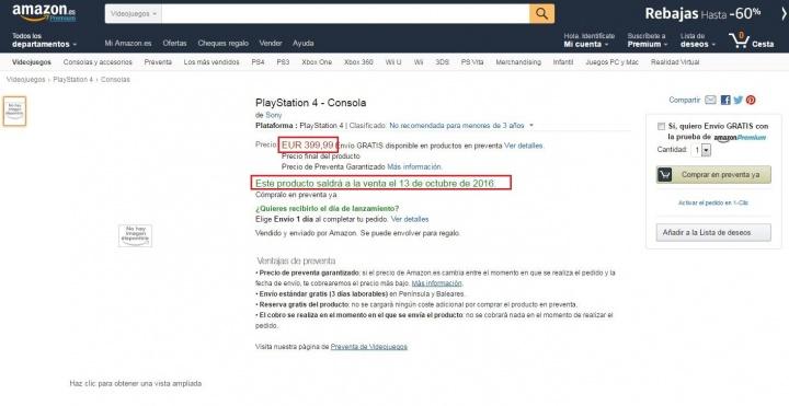 Imagen - Playstation 4 Neo aparece en Amazon por 400 euros