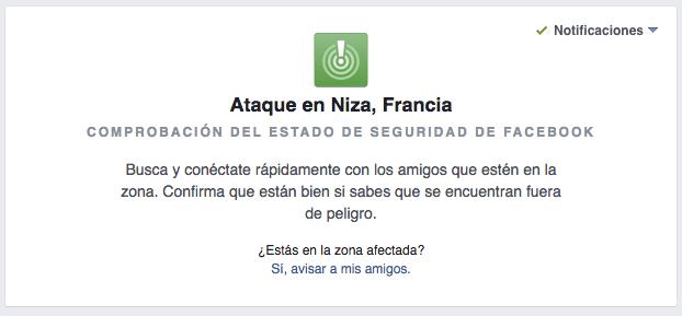 Imagen - Facebook activa Safety Check en Niza