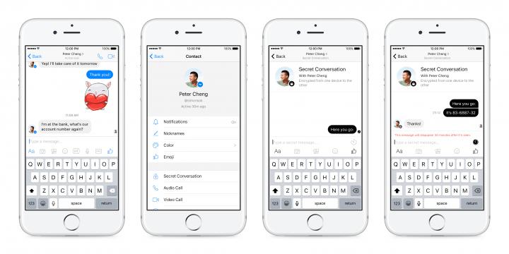 Imagen - Facebook Messenger ya permite crear conversaciones con mensajes que se autodestruyen