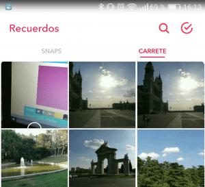 Imagen - Cómo subir fotos de la galería a Snapchat