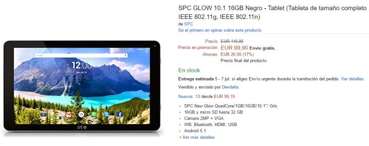 Imagen - Dónde comprar la SPC GLOW 10.1