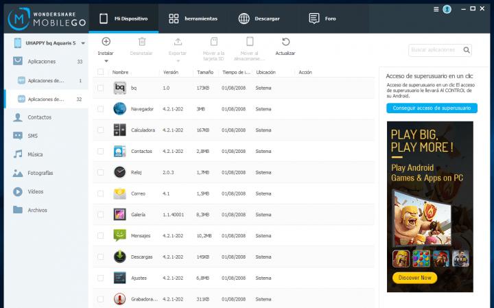 Imagen - Review: Wondershare MobileGo, un completo gestor del contenido del teléfono para ordenador