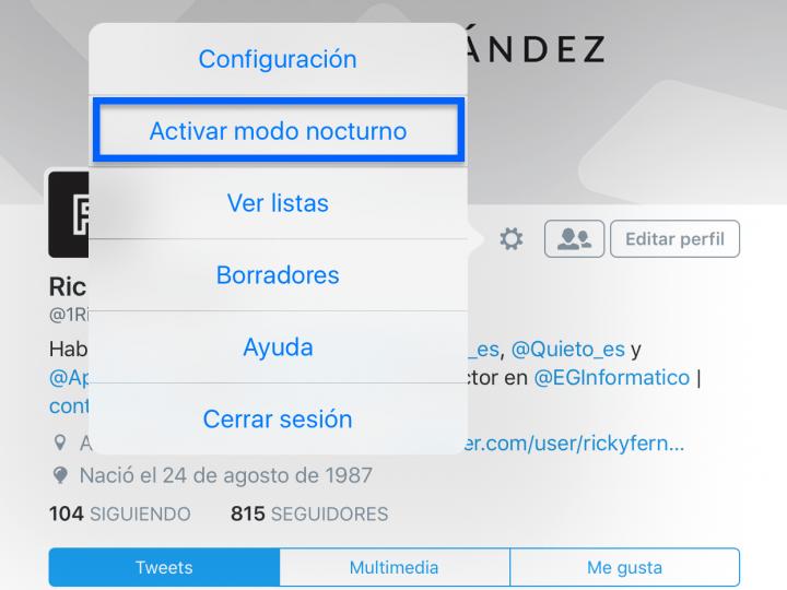 Imagen - Twitter lanza el modo nocturno en su app para iPhone