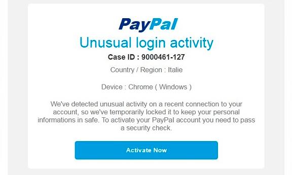 """Imagen - Cuidado con los correos de """"actividad inusual"""" de PayPal"""