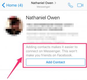 Imagen - Facebook Messenger permitirá añadir contactos sin hacer una petición de amistad