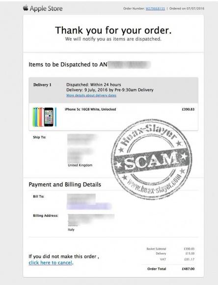 Imagen - Cuidado con el falso email de la Apple Store sobre una compra de un iPhone