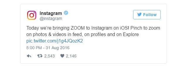 Imagen - Instagram ya permite hacer zoom en las fotografías y vídeos