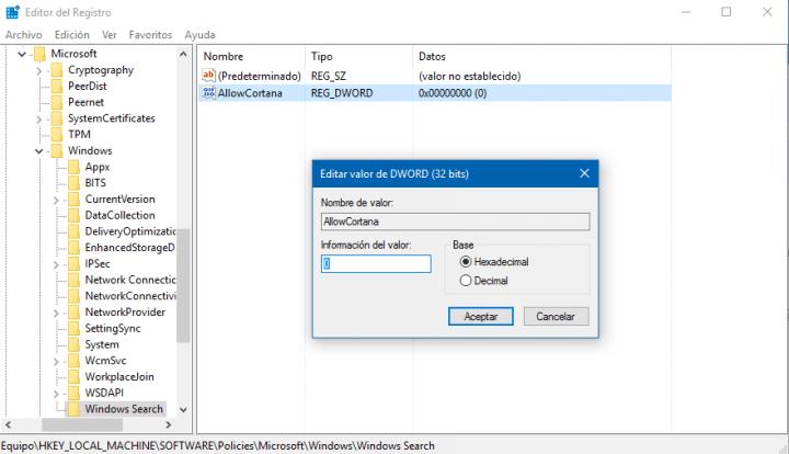 Imagen - Cómo desactivar Cortana en Windows 10 Anniversary Update