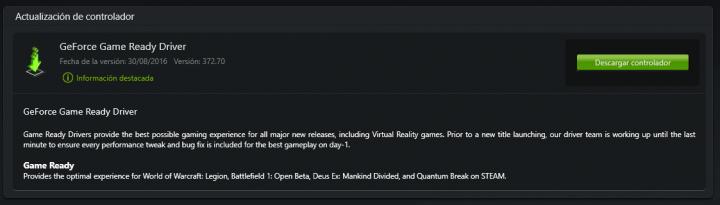 Imagen - Descarga los nuevos drivers GeForce 372.70 WHQL Game Ready