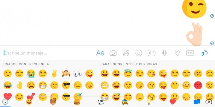 Imagen - Facebook Messenger ya permite enviar emojis gigantes
