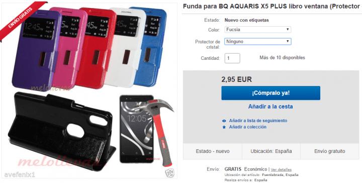 Imagen - 5 fundas para el bq Aquaris X5 Plus