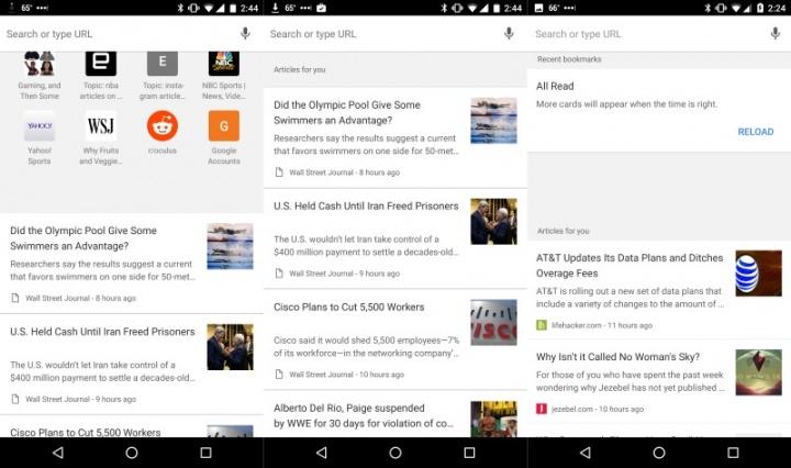 Imagen - Chrome para Android mostrará sugerencias de artículos en la página de inicio