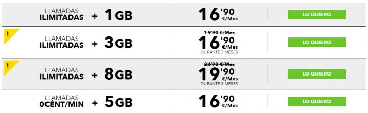 Imagen - MásMóvil rebaja el precio de su Tarifa Más de 3GB y 8GB