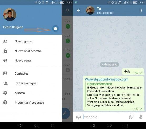 """Imagen - Cómo abrir una conversación """"contigo mismo"""" en Telegram"""