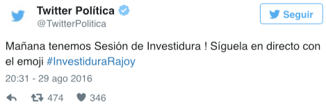 Imagen - Twitter crea un emoji de Rajoy