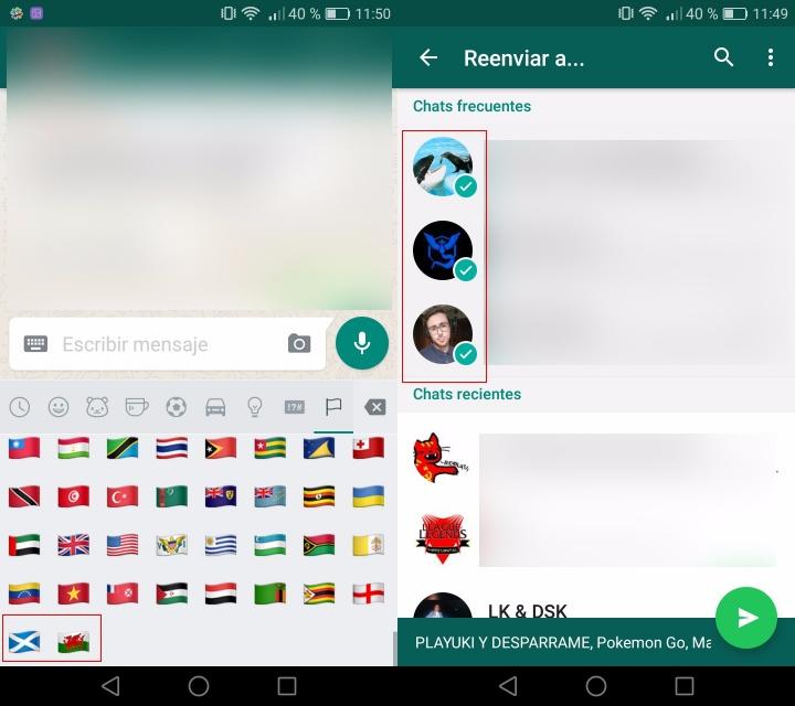 Imagen - WhatsApp ya permite reenviar un mensaje a varios contactos