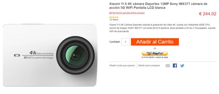 D 243 Nde Comprar La Xiaomi Yi 4k Action Camera
