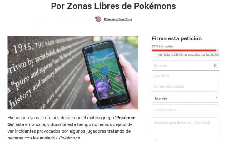 Imagen - Más de 23.000 personas piden habilitar espacios libres de Pokémons