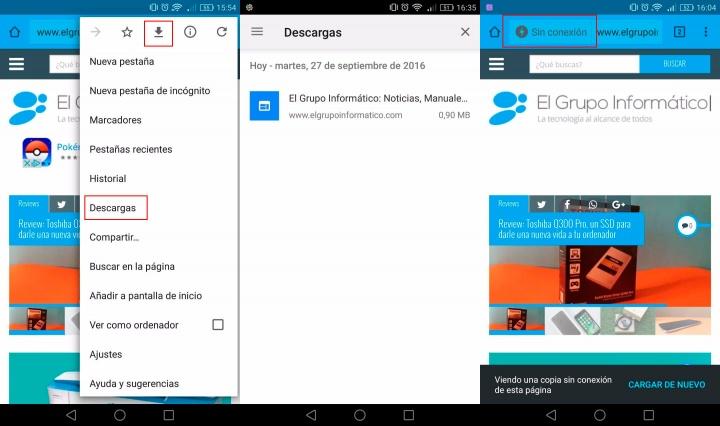 Imagen - Chrome 54 para Android permite ver webs offline y reproducir vídeos en segundo plano