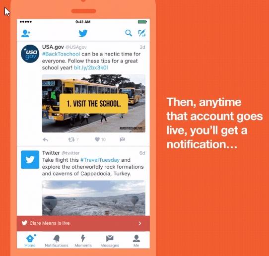 Imagen - Twitter notificará las emisiones en directo de las personas que sigues