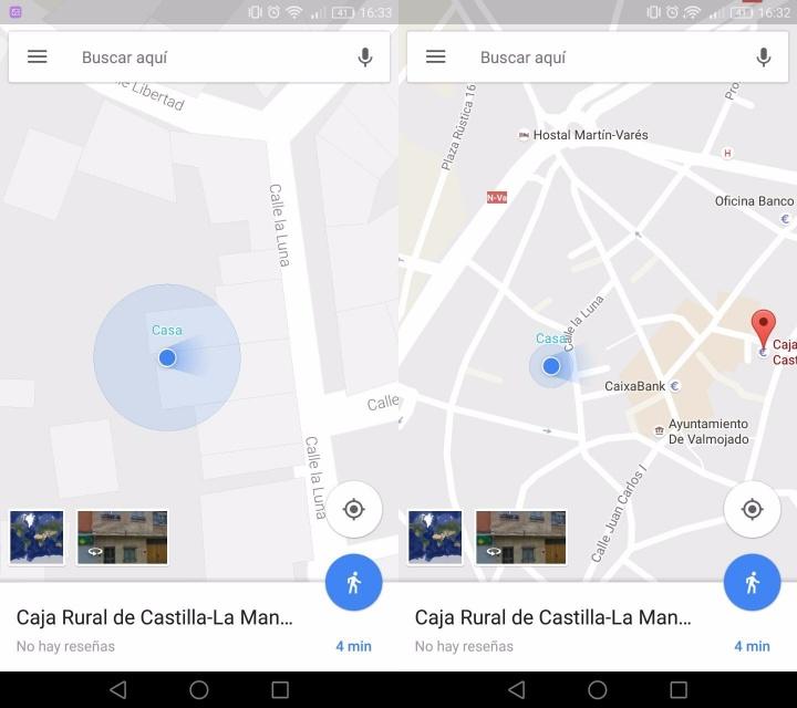 Imagen - Google Maps ha copiado el icono de dirección de Citymapper para saber hacia donde miramos