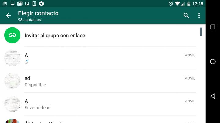 Imagen - WhatsApp 2.16.281 ya permite invitar a grupos mediante enlaces