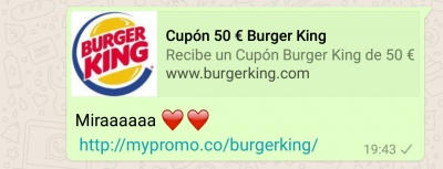 Imagen - Cuidado con los falsos cupones de Burger King