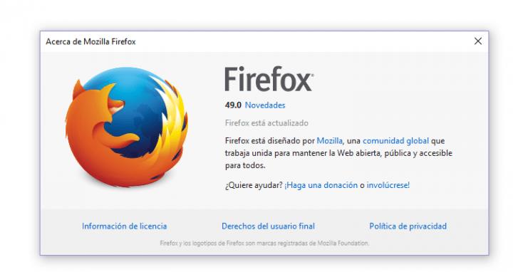 Imagen - Descarga Firefox 49 con interesantes novedades