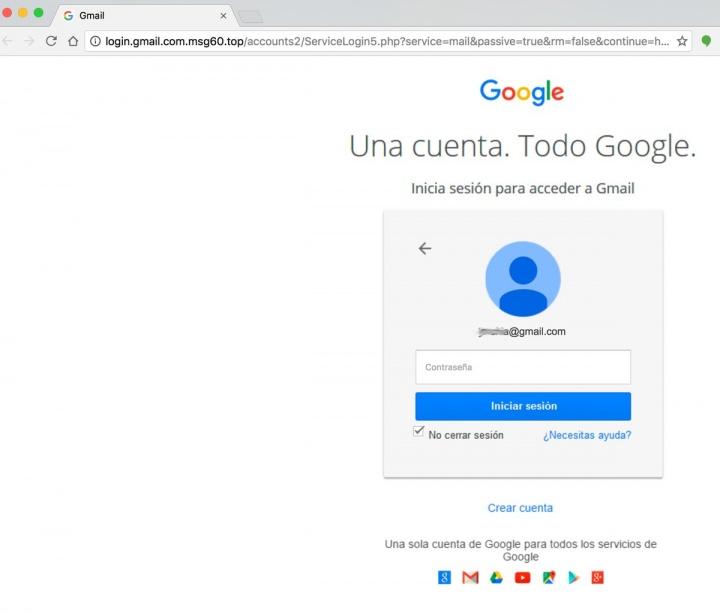 Imagen - Un falso correo de Google se salta el filtro anti-spam de Gmail
