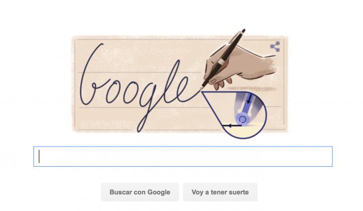 Google celebra el aniversario de Ladislao José Biro con un Doodle