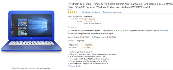 Imagen - Oferta: HP Stream 13, un portátil por solo 199 euros