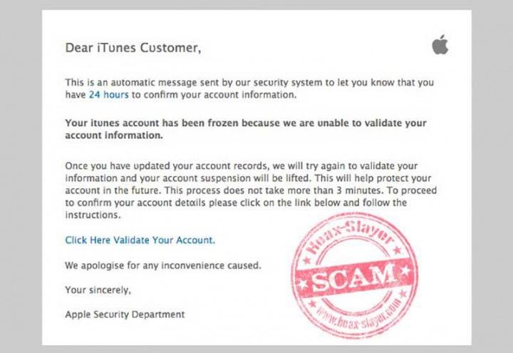 Imagen - Cuidado con el falso email de iTunes