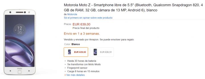 Imagen - Moto Z ya se puede comprar en España
