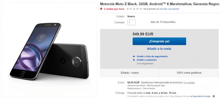 Imagen - Dónde comprar el Moto Z