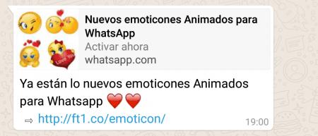 Imagen - Cuidado con los nuevos emoticonos animados para WhatsApp