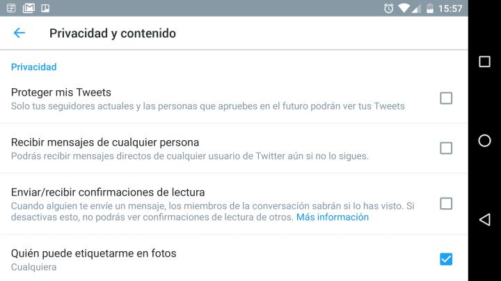 Imagen - Cómo desactivar la confirmación de lectura en los mensajes directos de Twitter