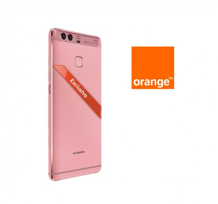 Huawei P9 en color rosa, ya con Orange