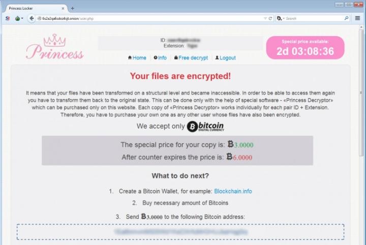 Imagen - Princess Locker, el nuevo ransomware que encripta los archivos de tu ordenador