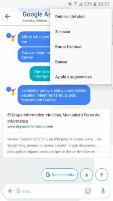 Imagen - Cómo silenciar una conversación en Google Allo