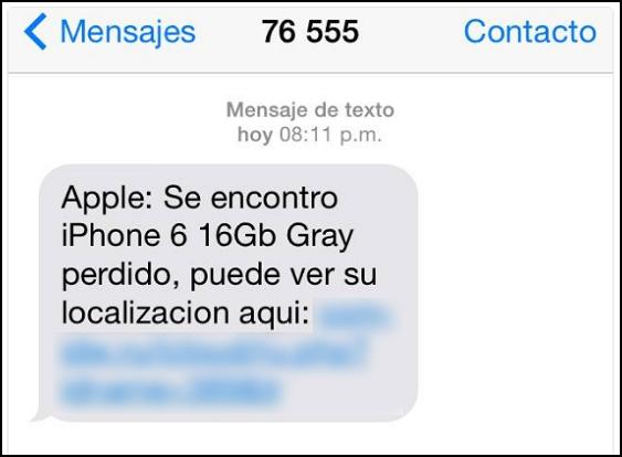Imagen - Un falso SMS alerta de un iPhone perdido para robar los datos de iCloud