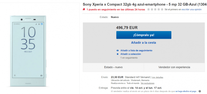Imagen - Dónde comprar el Sony Xperia X Compact
