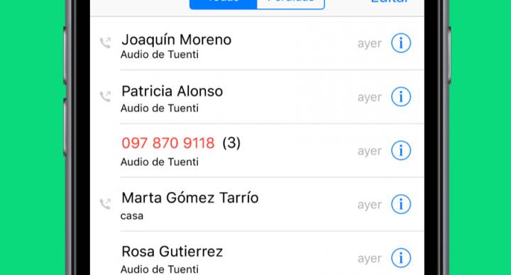 Imagen - Tuenti integra sus llamadas en iOS 10