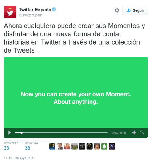 Imagen - Twitter ya permite crear Momentos en España