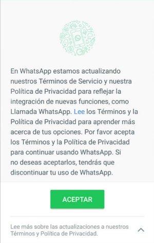 Imagen - Si no aceptas el contrato con Facebook, te quedarás sin WhatsApp