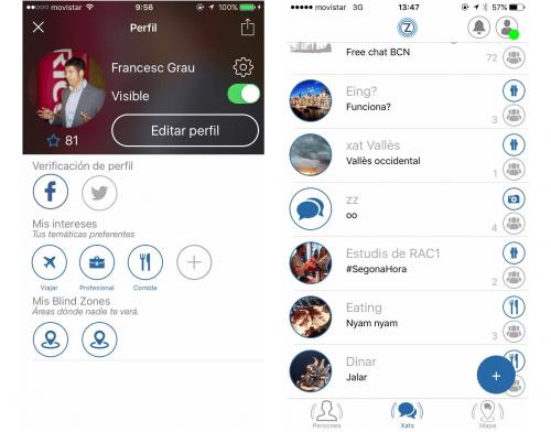 Imagen - Zonetacts, la app para chatear con usuarios cercanos
