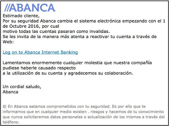 Imagen - Cuidado con los falsos correos de ABANCA