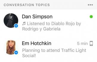 Imagen - Facebook Messenger empieza a sugerir temas de conversación