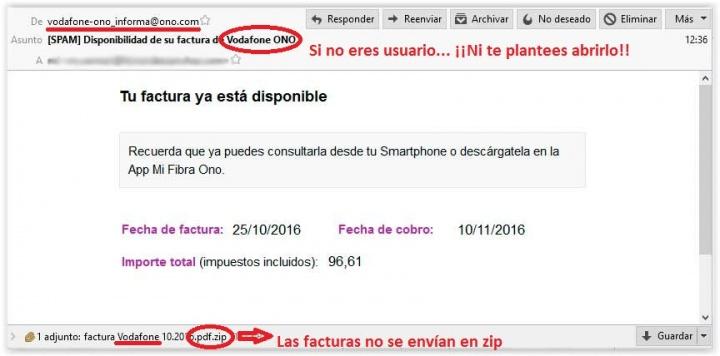 Imagen - Cuidado con las falsas facturas de Vodafone