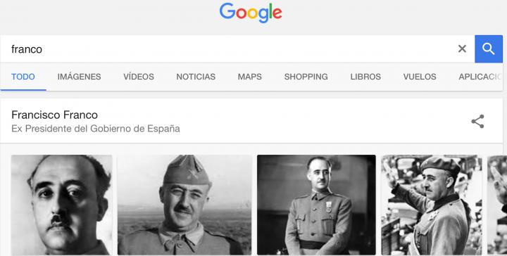 Imagen - Google define a Franco como Ex Presidente del Gobierno de España